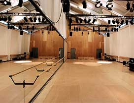 National Theatre Studio re-opened in November 2007 following a 15-month redevelopment by architects Haworth Tompkins
